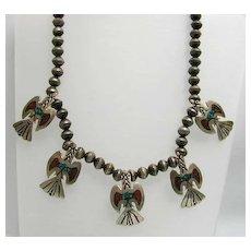 Fabulous Southwestern Navajo Phoenix Necklace by Bobbie Piaso