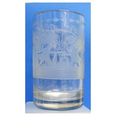 c. 1750 Large Multiple-scene Etched Tumbler