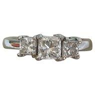 Lovely Vintage 3-Princess Diamond Engagement Ring