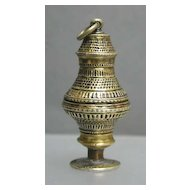 1700s Gilt Silver (Vermeil) Vinaigrette / Wax Seal