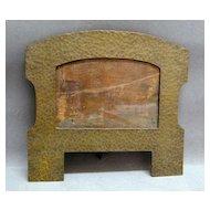 c. 1900 Arts & Crafts Hammered Bronze Cabinet Picture Frame