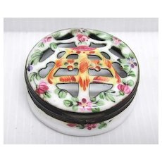 19th c. Samson Enamel on Copper Potpourri Box