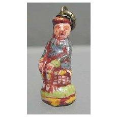 Rare 1750s Porcelain Figural Scotsman Charm/Pendant