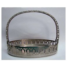 Fabulous WMF Jugendstil Silver Plate and Glass Basket