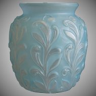 Phoenix Glass Sculptured Artware Figured Vase, Blue Wash, Ca. 1938