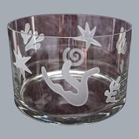 "Etched Crystal ""Matisse"" Bowl"