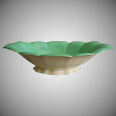 Cowan Pottery Bowl #741-A, Ca. 1930, April Green/Ivory