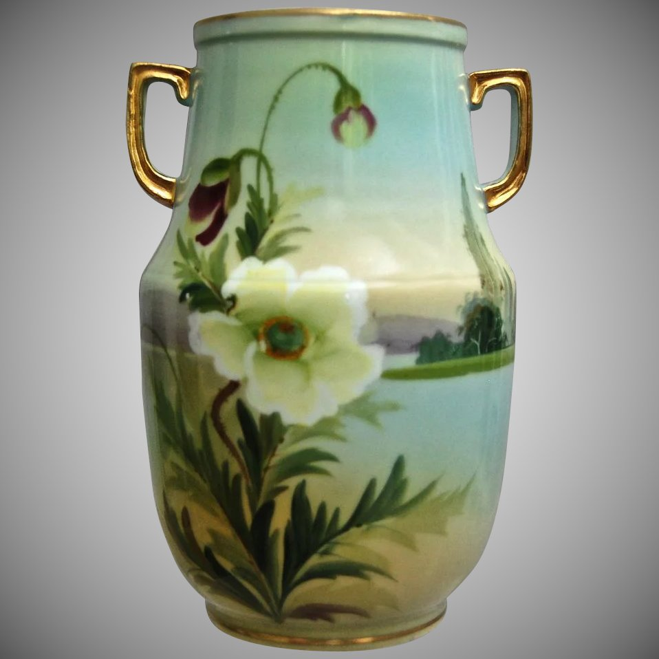 Noritake nippon hand painted scenic vase wpoppies the devil noritake nippon hand painted scenic vase wpoppies click to expand reviewsmspy