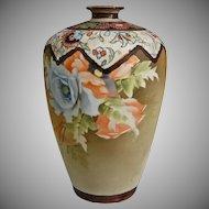 """Nippon 9"""" Matte Floral Vase"""