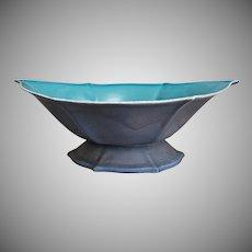 "Cowan Pottery Bowl #643, ""Dawn"" Glaze, Ca. 1925"