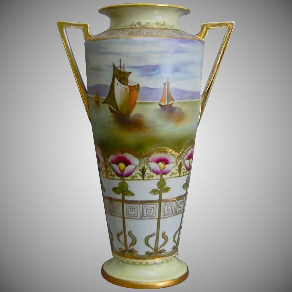 Imperial nippon 14 handpainted vase wseascape circa 1910 the imperial nippon 14 handpainted vase wseascape circa 1910 click to expand reviewsmspy