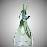 "Franz Collection ""Bamboo Song Bird"" Triangle Vase"