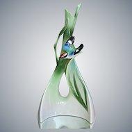 """Franz Collection """"Bamboo Song Bird"""" Triangle Vase"""