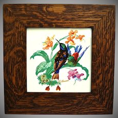 Hyalyn Porcelain Tile w/Oak Frame