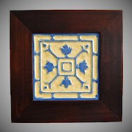 Arts & Crafts Style Framed Tile