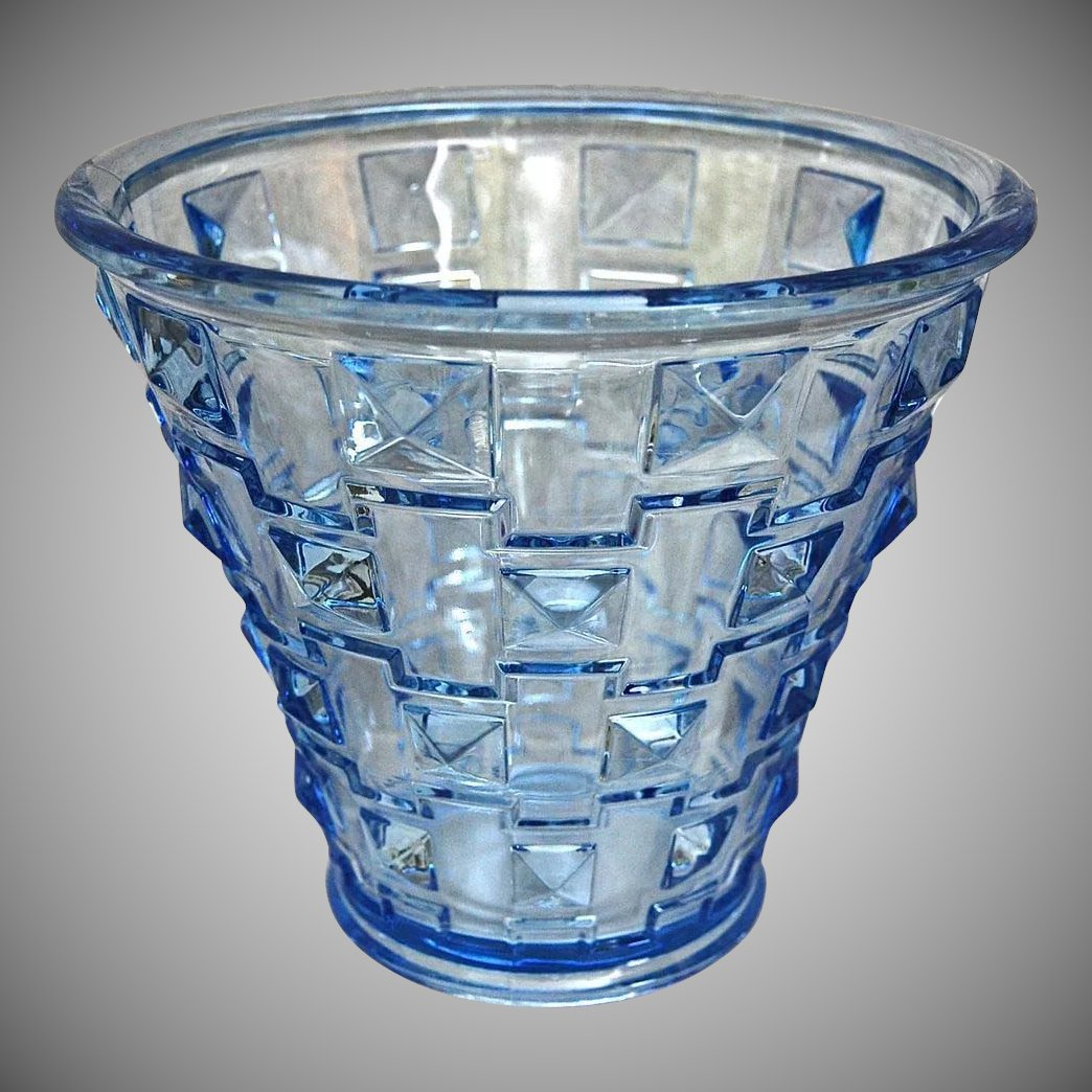 Orrefors faceted glass vase blue circa 1930 the devil duck orrefors faceted glass vase blue circa 1930 click to expand reviewsmspy
