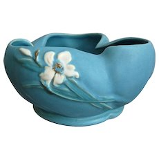 """Weller Pottery """"Bouquet"""" Bowl #B-8, Circa 1937 - Red Tag Sale Item"""