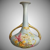 Robert Hanke Austria Hand Decorated Porcelain Vase