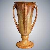 "Roseville Pottery Russco Vase #696-8"", Gold, Circa 1934"