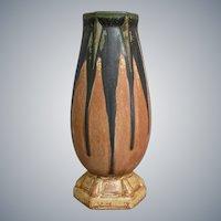 Denbac French Pottery Art Deco Vase #542, Circa 1935