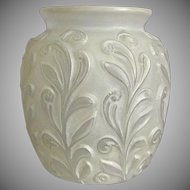Phoenix Glass Sculptured Artware Figured Vase, White Wash, Ca. 1938