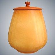 "Roseville Pottery Utility Ware Cookie Jar #20-10"", Golden Tan, Circa 1950"