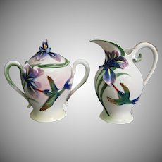 Franz Collection Hummingbird & Iris Creamer/Sugar