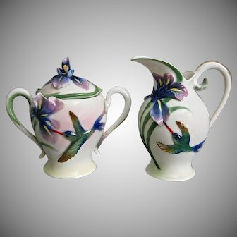 Franz Collection Hummingbird & Iris Creamer/Sugar
