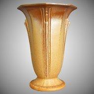 "Roseville Pottery Russco Vase #694-7"", Gold, Circa 1934"
