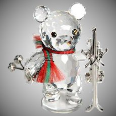 Swarovski Crystal Kris Bear w/Skis