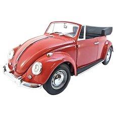 Franklin Mint 1967 Volkswagen Beetle Cabriolet, 1:24 Scale, w/Box & COA