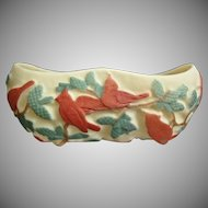 Consolidated Martele' Nuthatch Planter, Red Tri-Color, c. 1926