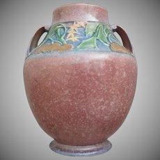 """Roseville Pottery Baneda Vase #597-10"""", Pink, c 1932"""