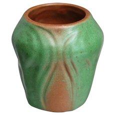 """Van Briggle Pottery 3"""" Vase #310, Brown, Ca. 1930"""