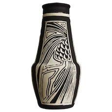 "Weller Pottery Claywood 6"" Vase, c 1910"