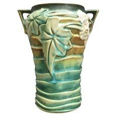 "Roseville Pottery Luffa Vase #688-8"", Green, Ca. 1934"