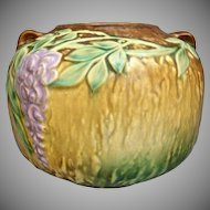 "Roseville Pottery Wisteria Vase #632-5"", Brown, c. 1933"