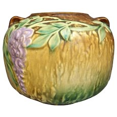 "Roseville Pottery Wisteria Vase #632-5"", Brown, c. 1933"