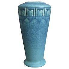 "Rookwood Pottery 8"" Incised Mat Vase, Blue, 1916"
