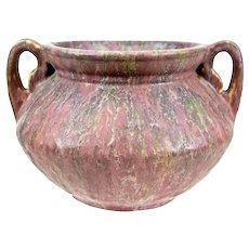 "Roseville Pottery Carnelian II Rose Bowl #158-5"", c. 1928"