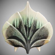 "Newman Ceramic Works ""Standing Leaf"" Vase #V-4, ""Smokey Jade"" Glaze"