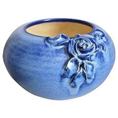 Fulper Pottery Bowl w/Rose, c. 1930