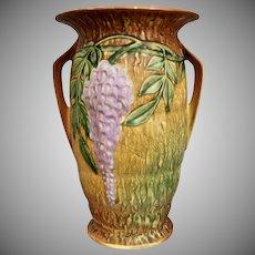 "Roseville Pottery Wisteria Vase #640-12"", Brown, c. 1933"