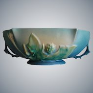 "Roseville Pottery Thornapple Bowl #310-10"", Blue, Circa 1937"