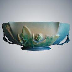 "Roseville Pottery Thornapple Bowl #310-10"", Blue, Circa 1937"