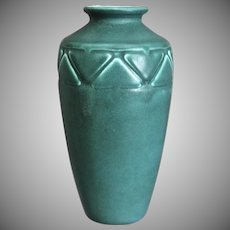 Rookwood Pottery Production Vase #2439, Teal Mat, 1927