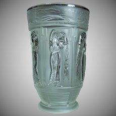 "Bohemian Glass ""Danaides"" Vase, ca. 1930"