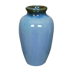 "Fulper Pottery 7 ¾"" Vase #839, Blue, Circa 1920"