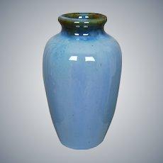 "Fulper Pottery 7 ¾"" Vase #839, Blue, Circa 1920"