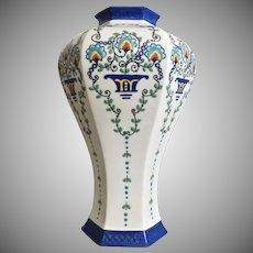 """Lenox Belleek Hand-painted 11 1/2"""" Vase, Ca. 1910"""